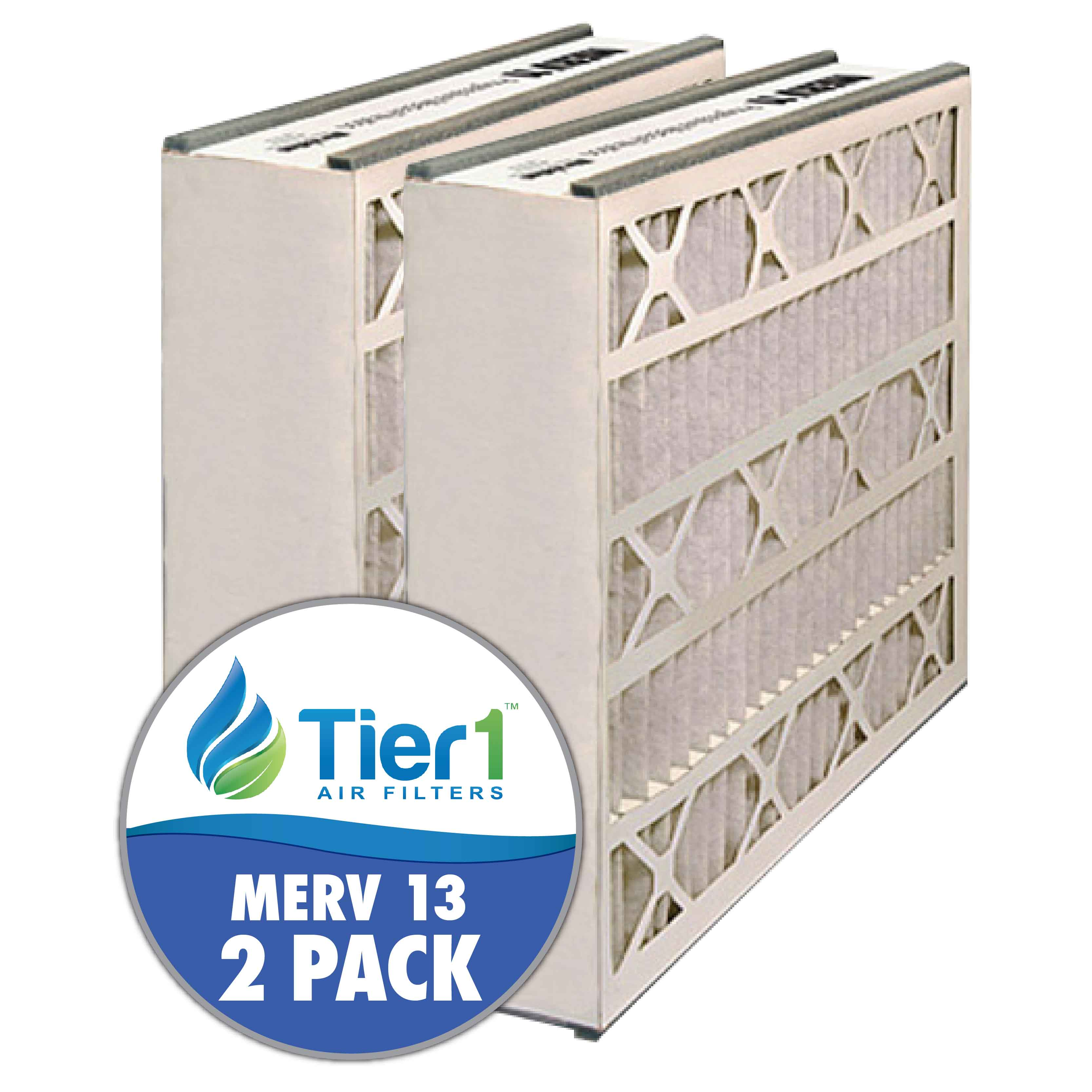 20x20x5 255649-103 & 259112-103 Trion / Air Bear MERV 13 Comparable Air Filter by Tier1 (2-pack) TIER1-RDPAB052020M13