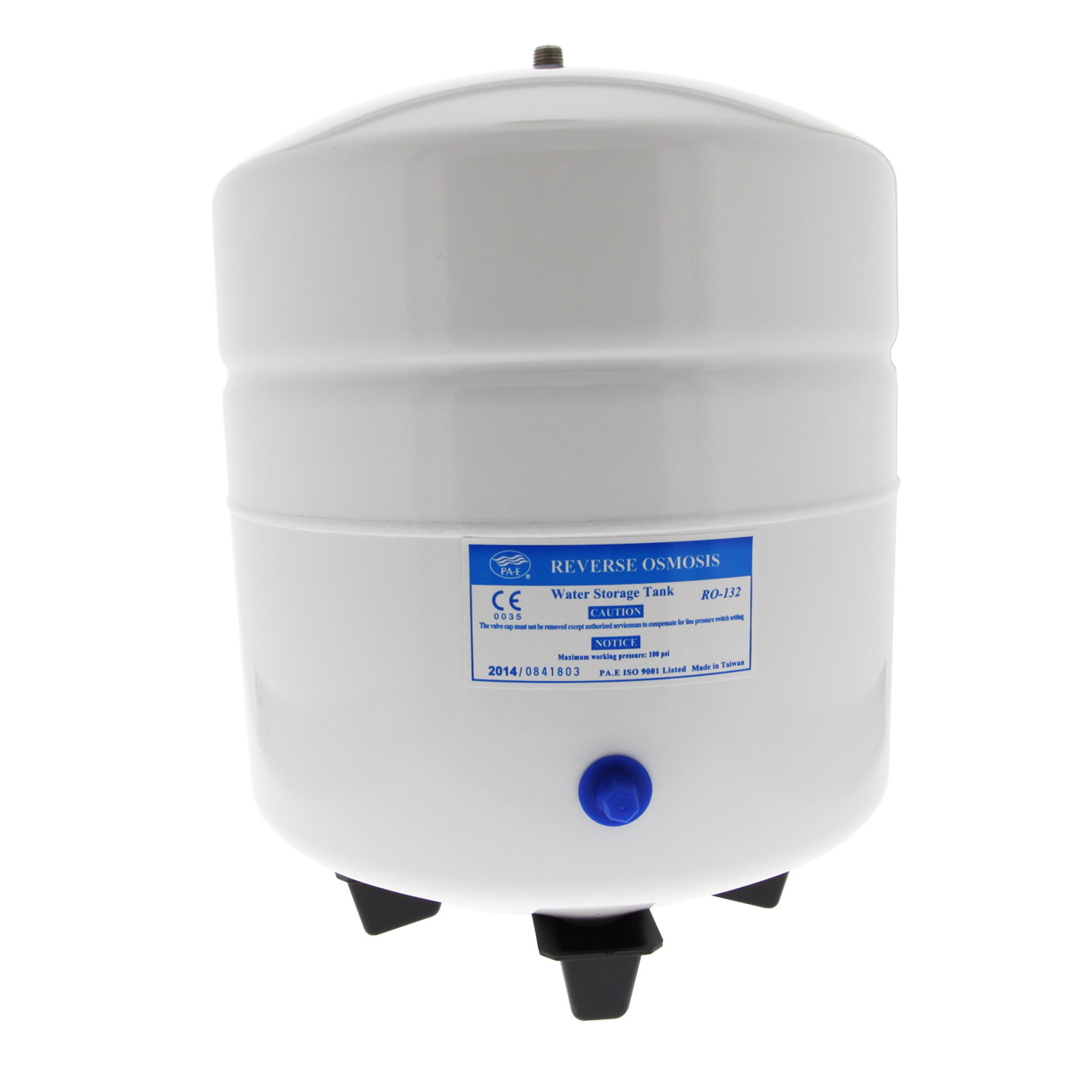 RO-132-W14 White 3.2 Gallon Reverse Osmosis System Bladder Tank by Tier1