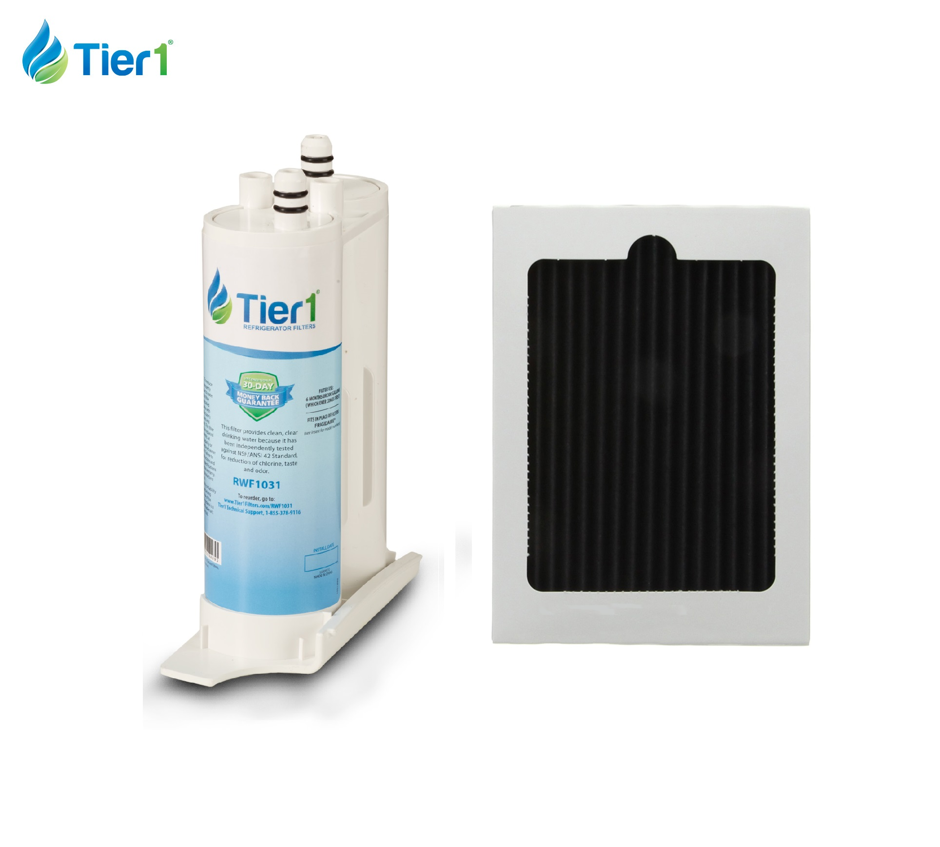Tier1 Frigidaire WF2CB and Frigidaire PAULTRA Comparable Refrigerator Water Filter and Air Filter Combo TIER1_RWF1031_COMBO