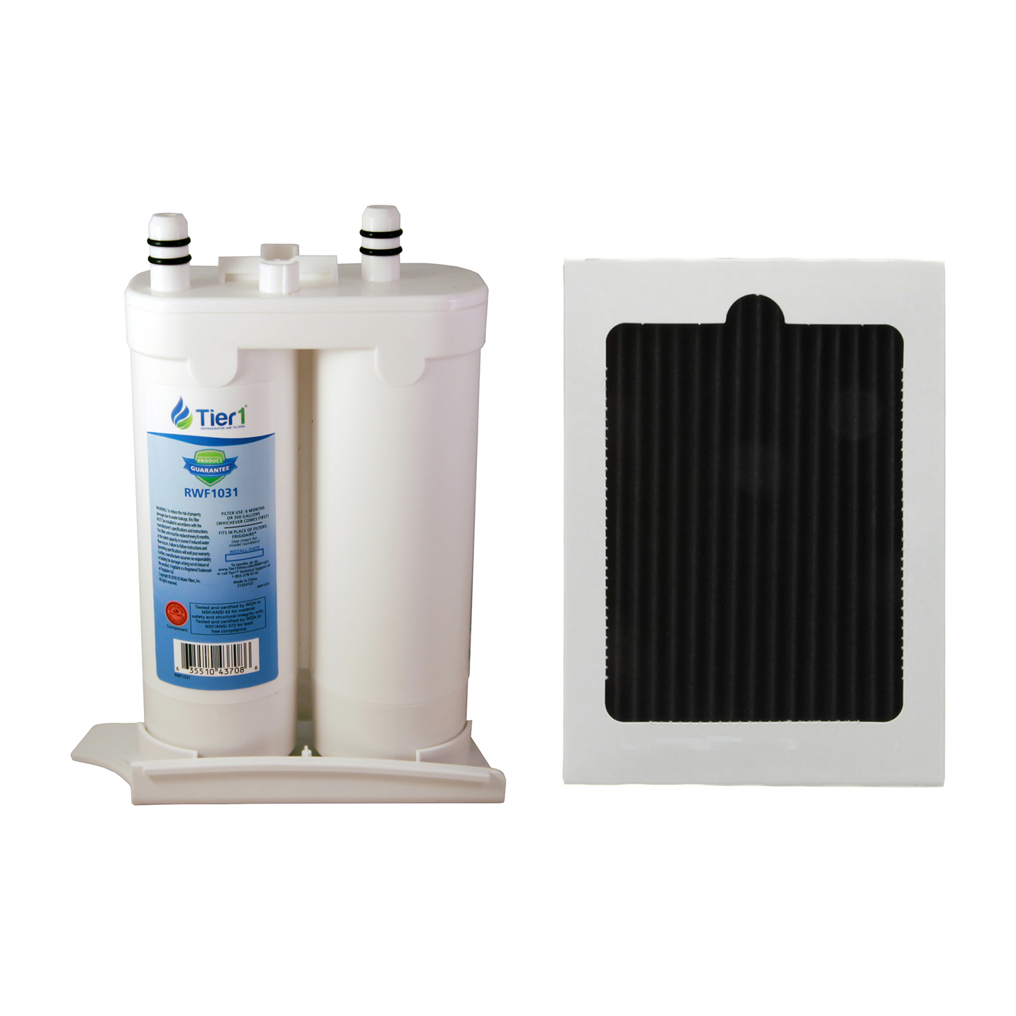 Frigidaire WF2CB and PAULTRA Comparable Refrigerator Water Filter and Air Filter Combo by Tier1 TIER1_RWF1031_COMBO