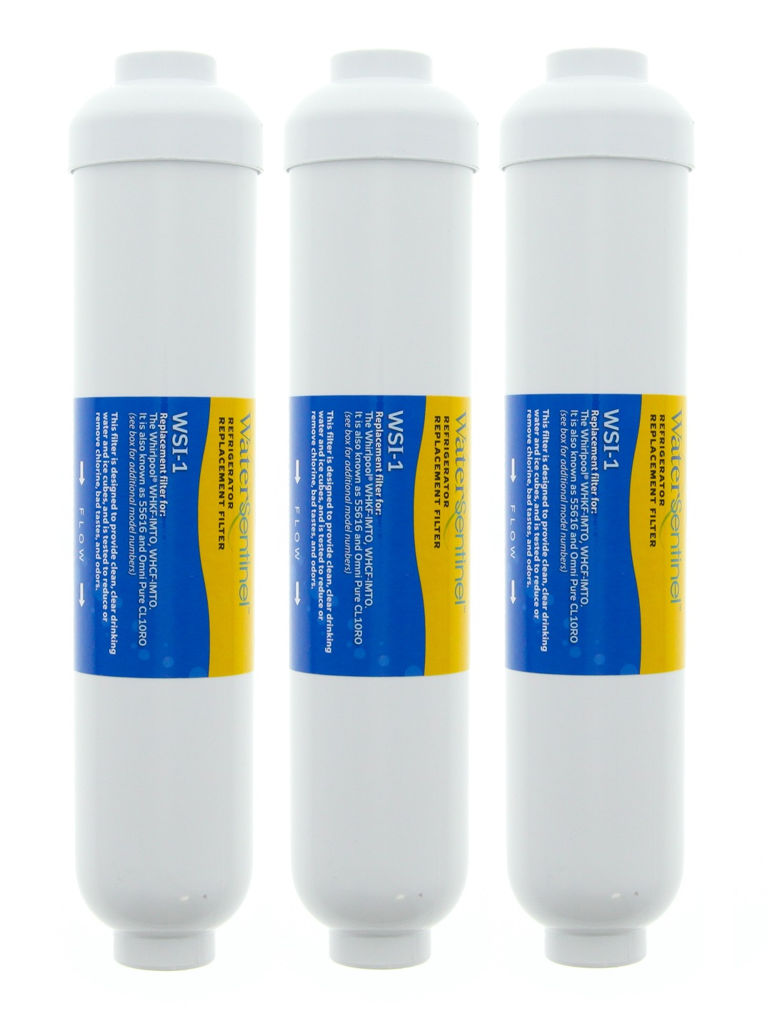 WSI-1 Water Sentinel Refrigerator Water Filter (WHKF-IMCF Compatible) (3-Pack)